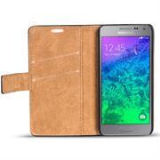 Retro Klapptasche für Samsung Galaxy Alpha aufstellbares Book Wallet