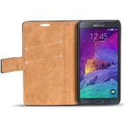 Retro Klapptasche für Samsung Galaxy Note 4 Book Cover Hülle mit Kartenfächer