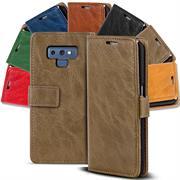 Retro Klapptasche für Samsung Galaxy Note 9 Book Cover Hülle Tasche mit Kartenfächer
