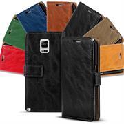 Retro Klapptasche für Samsung Galaxy Note Edge aufstellbares Wallet