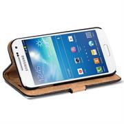Retro Tasche für Samsung Galaxy S4 Mini Hülle Wallet Case Handyhülle Vintage Slim Cover