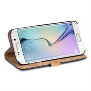 Retro Klapptasche für Samsung Galaxy S6 Edge Plus Book Cover Hülle mit Kartenfächer