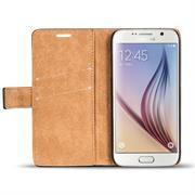 Retro Klapptasche für Samsung Galaxy S6 Book Cover Hülle mit Kartenfächer