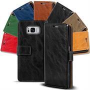 Retro Klapptasche für Samsung Galaxy S8 aufstellbares Book Wallet