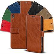 Retro Tasche für Sony Xperia M4 Aqua Hülle Wallet Case Handyhülle Vintage Slim Cover