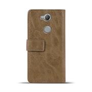 Retro Tasche für Sony Xperia XA2 Hülle Wallet Case Handyhülle Vintage Slim Cover
