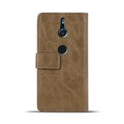 Retro Klapptasche für Sony Xperia XZ2 Book Cover Hülle Tasche mit Kartenfächer