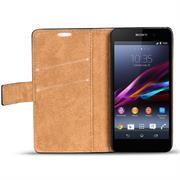 Retro Klapptasche für Sony Xperia Z1 Compact aufstellbares Wallet