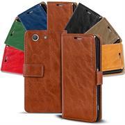 Retro Tasche für Sony Xperia Z3 Compact Hülle Wallet Case Handyhülle Vintage Slim Cover