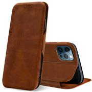 Shell Flip Case für Apple iPhone 12 / 12 Pro (6.1 Zoll) Hülle Handy Tasche mit Kartenfach Premium Schutzhülle