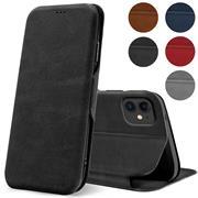 Shell Flip Case für Apple iPhone 12 Mini (5.4 Zoll) Hülle Handy Tasche mit Kartenfach Premium Schutzhülle