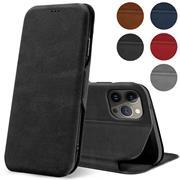 Shell Flip Case für Apple iPhone 13 Pro Hülle Handy Tasche mit Kartenfach Premium Schutzhülle