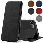 Shell Flip Case für Apple iPhone 7 / 8 / SE 2020 Hülle Handy Tasche mit Kartenfach Premium Schutzhülle