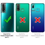 Shell Flip Case für Huawei P Smart 2021 Hülle Handy Tasche mit Kartenfach Premium Schutzhülle