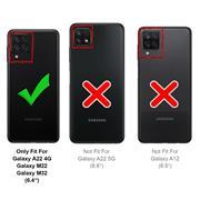 Shell Flip Case für Samsung Galaxy A22 4G / M22 Hülle Handy Tasche mit Kartenfach Premium Schutzhülle