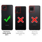 Shell Flip Case für Samsung Galaxy A22 5G Hülle Handy Tasche mit Kartenfach Premium Schutzhülle