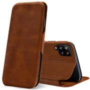 Shell Flip Case für Samsung Galaxy A42 5G Hülle Handy Tasche mit Kartenfach Premium Schutzhülle