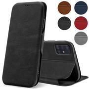 Shell Flip Case für Samsung Galaxy A51 Hülle Book Cover Handy Tasche mit Kartenfach Premium Schutzhülle