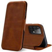 Shell Flip Case für Samsung Galaxy A72 Hülle Handy Tasche mit Kartenfach Premium Schutzhülle