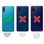 Shell Flip Case für Samsung Galaxy M11 Hülle Handy Tasche mit Kartenfach Premium Schutzhülle