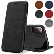 Shell Flip Case für Samsung Galaxy Note 20 Hülle Handy Tasche mit Kartenfach Premium Schutzhülle