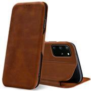 Shell Flip Case für Samsung Galaxy S20 Plus Hülle Book Cover Handy Tasche mit Kartenfach Premium Schutzhülle