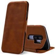 Shell Flip Case für Samsung Galaxy S9 Plus Hülle Book Cover Handy Tasche mit Kartenfach Premium Schutzhülle