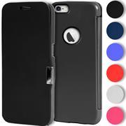 Slim Klapphülle für Apple iPhone 6 / 6S Handy Hülle dünnes Case Tasche