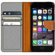 Book Wallet Hülle für Apple iPhone 8 Schutzhülle im Jeans-Look
