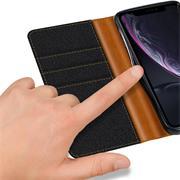 Handy  Tasche für Apple iPhone XR Hülle Wallet Jeans Case Schutzhülle
