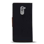 Handy Tasche für Honor 6X Hülle Wallet Jeans Case Schutzhülle