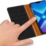 Handy Tasche für Honor 8X Hülle Wallet Jeans Case Schutzhülle