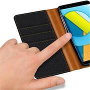 Handy  Tasche für Honor 9 Lite Hülle Wallet Jeans Case Schutzhülle