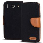 Handy  Tasche für Huawei G510 Hülle Wallet Jeans Case Schutzhülle