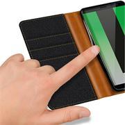 Book Wallet Tasche für Huawei Mate 10 Lite Schutzhülle im Jeans-Look