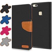Handy Tasche für Huawei P10 Lite Hülle Wallet Jeans Case Schutzhülle