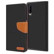 Handy  Tasche für Huawei P30 Hülle Wallet Jeans Case Schutzhülle