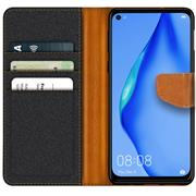 Handy Tasche für Huawei P40 Lite Hülle Wallet Jeans Case Schutzhülle