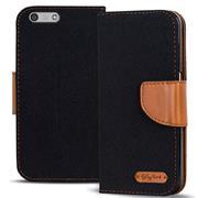 Handy  Tasche für Huawei P7 Mini Hülle Wallet Jeans Case Schutzhülle