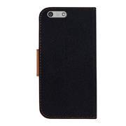 Book Wallet Tasche für Huawei Ascend P7 Mini Schutzhülle im Jeans-Look