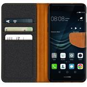 Handy Tasche für Huawei P9 Hülle Wallet Jeans Case Schutzhülle