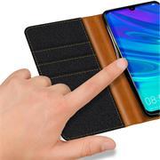 Handy  Tasche für Huawei P Smart 2019 Hülle Wallet Jeans Case Schutzhülle