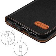Handy  Tasche für Huawei P Smart (2017) Hülle Wallet Jeans Case Schutzhülle