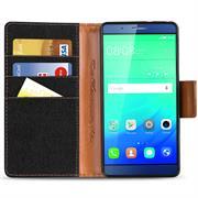 Book Wallet für Huawei ShotX Schutzhülle im Jeans-Look aufstellbar