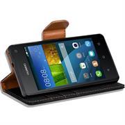 Book Wallet Tasche für Huawei Ascend Y330 Schutzhülle im Jeans-Look