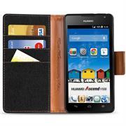Book Wallet Tasche für Huawei Ascend Y530 Schutzhülle im Jeans-Look