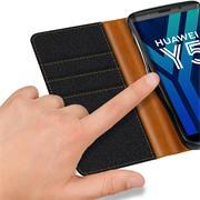 Handy Tasche für Huawei Y5 2018 Hülle Wallet Jeans Case Schutzhülle