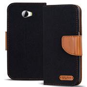 Handy  Tasche für Huawei Y5 II 2 Hülle Wallet Jeans Case Schutzhülle