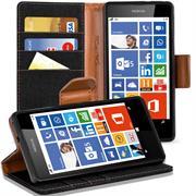 Book Wallet für Nokia Lumia 530 Schutzhülle im Jeans-Look aufstellbar