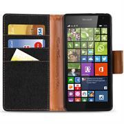 Handy  Tasche für Microsoft Lumia 532 Hülle Wallet Jeans Case Schutzhülle